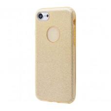 Чехол для iPhone 7/8 Shining Glitter Case с блестками золотой