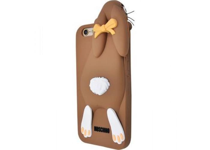 Чехол для iPhone 7/8 Moschino Заяц коричневый