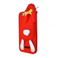 Чехол для iPhone 7/8 Moschino Заяц красный