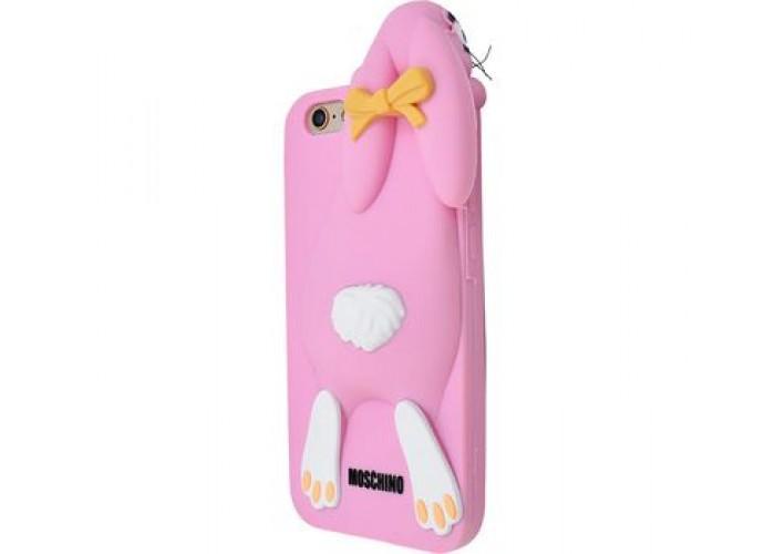 Чехол для iPhone 7/8 Moschino Заяц розовый