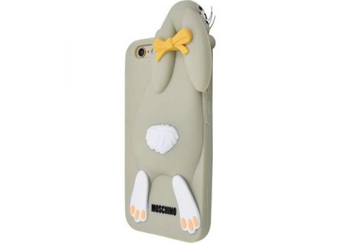 Чехол для iPhone 7/8 Moschino Заяц серый