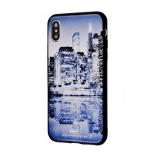 Чехол для iPhone X / Xs White Knight Pictures Glass 26