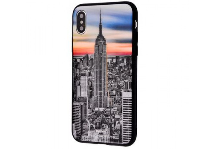Чехол для iPhone X / Xs White Knight Pictures Glass 24