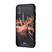 Чехол для iPhone X White Knight Pictures Glass 23
