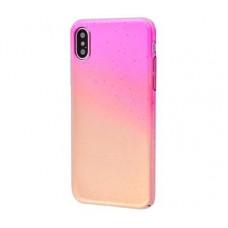 Чехол для iPhone X / Xs Summer Rain розово-золотистый