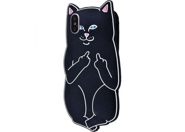 Чехол для iPhone X / Xs Cat Fakk Ripndip черный