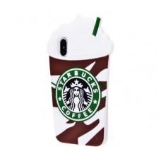 Чехол для iPhone X / Xs Starbuks коричневый