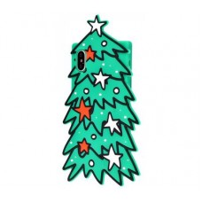 Чехол для iPhone X / Xs Елочка зеленый