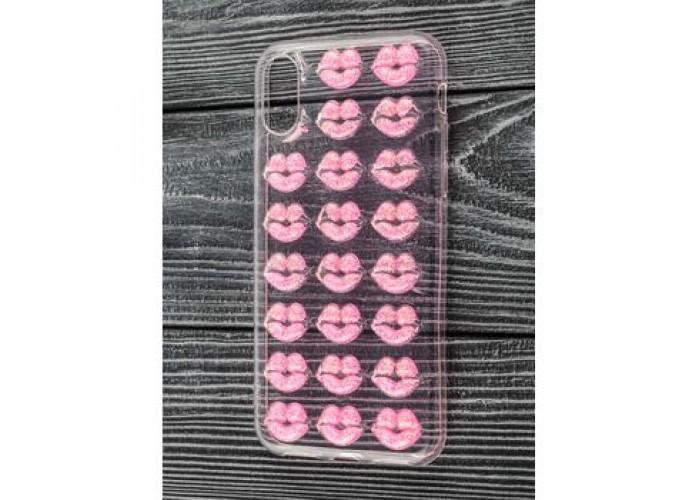 Чехол для iPhone X / Xs Confetti поцелуй розовый