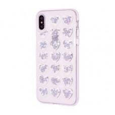 Чехол для iPhone X / Xs Confetti Heart розовый