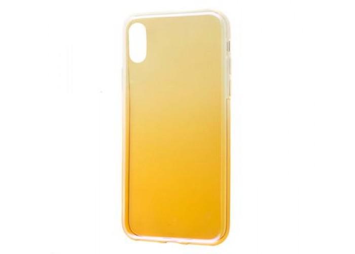 Чехол для iPhone X  Colorful Fashion золотистый