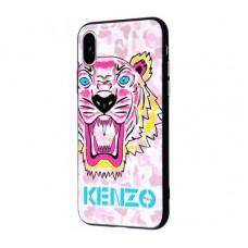 Чехол для iPhone X / Xs Kenzo Розовый тигр