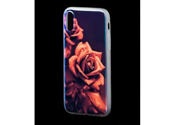 Чехол для iPhone X / Xs Перламутр Роза