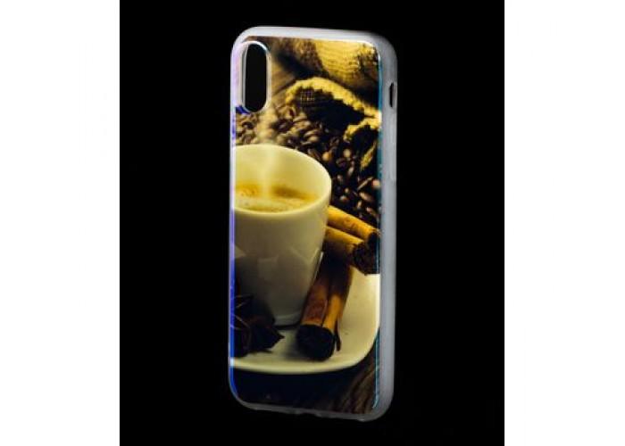 Чехол для iPhone X / Xs Перламутр Кофе