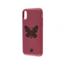 Чехол для iPhone X Luna Aristo бабочка красный
