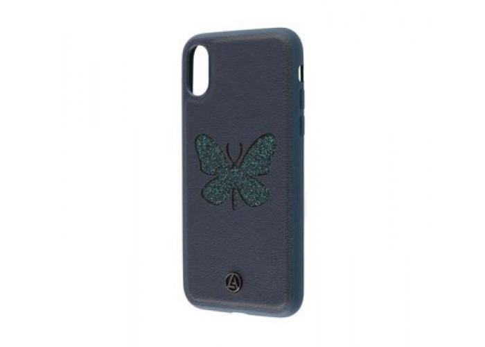 Чехол для iPhone X Luna Aristo бабочка синий