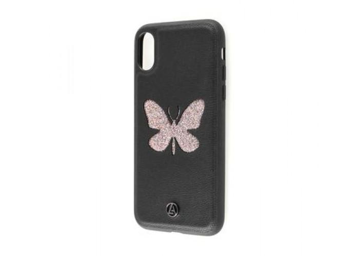 Чехол для iPhone X Luna Aristo бабочка черный