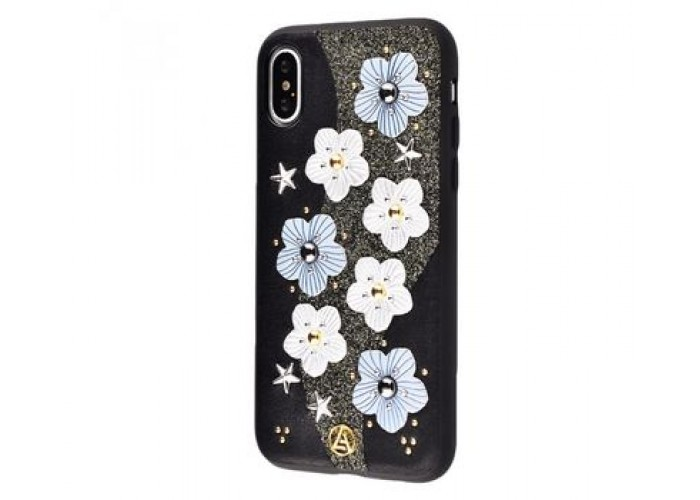 Чехол для iPhone X Luna Aristo цветы черный