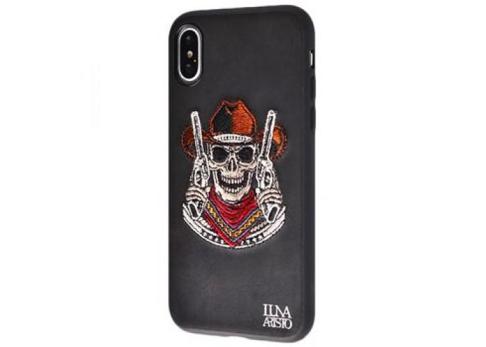 Чехол для iPhone X Luna Aristo череп ковбой черный