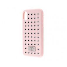 Чехол для iPhone X Polo Maverich (Leather) розовый