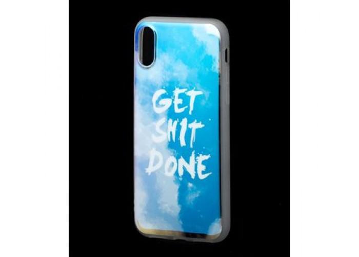 Чехол для iPhone X / Xs Перламутр Get Shit Done