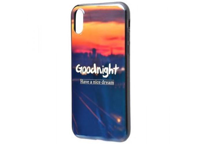 Чехол для iPhone X / Xs Перламутр Goodnight