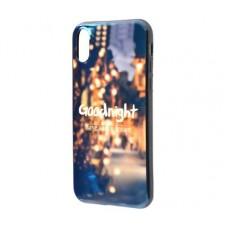Чехол для iPhone X / Xs Перламутр Goodnight в городе