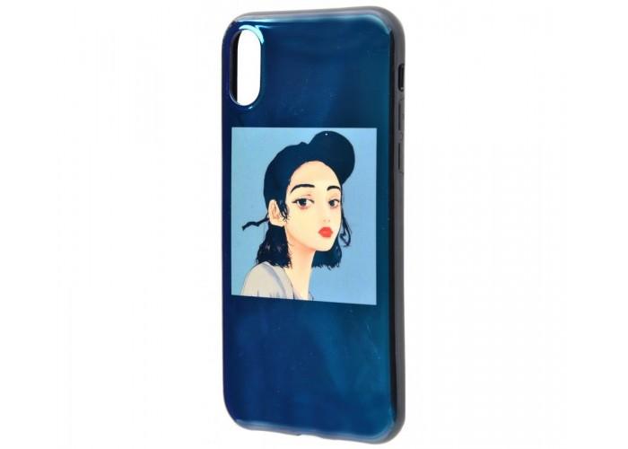Чехол для iPhone X / XS Перламутр Девушка