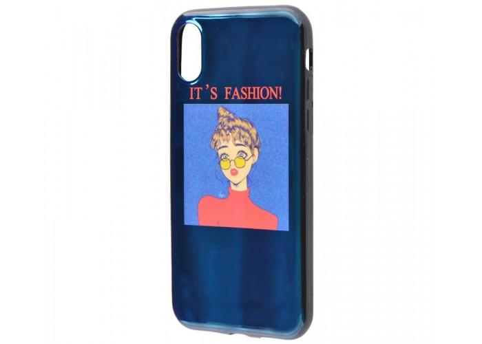 Чехол для iPhone X / Xs Перламутр Модница