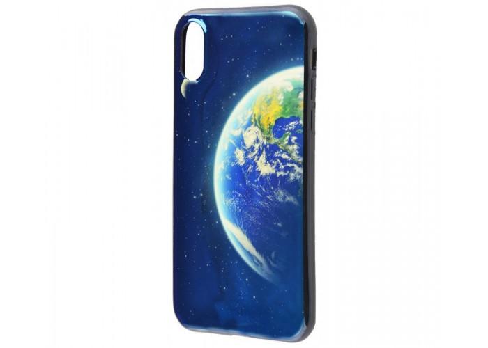 Чехол для iPhone X / Xs Перламутр Планета Земля