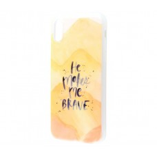 Чехол для iPhone X Перламутр He Makes Me Brave