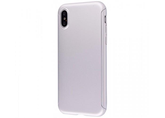 Чехол для iPhone X Voero 360 Protect Case Серебро