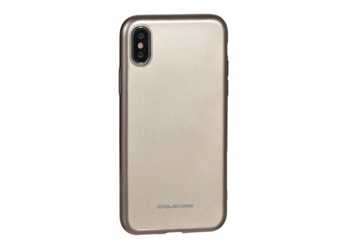 Чехол для iPhone X / Xs  Molan Cano Jelly золотой