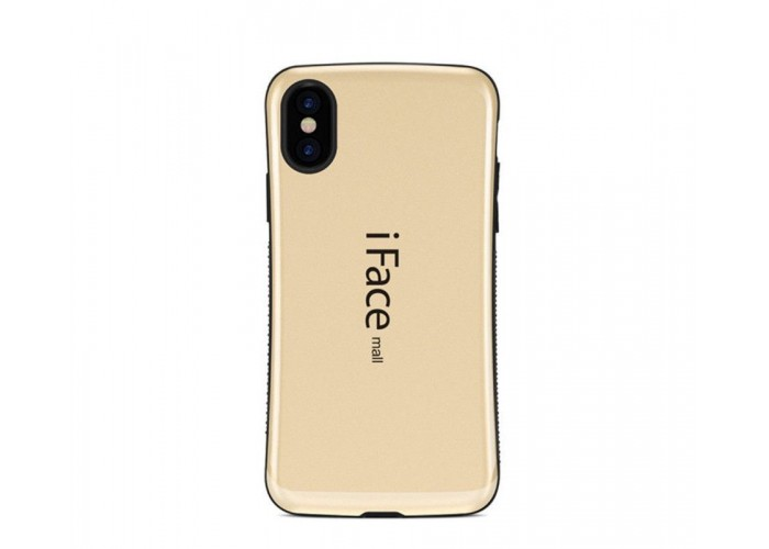 Чехол для iPhone X iFace золотистый