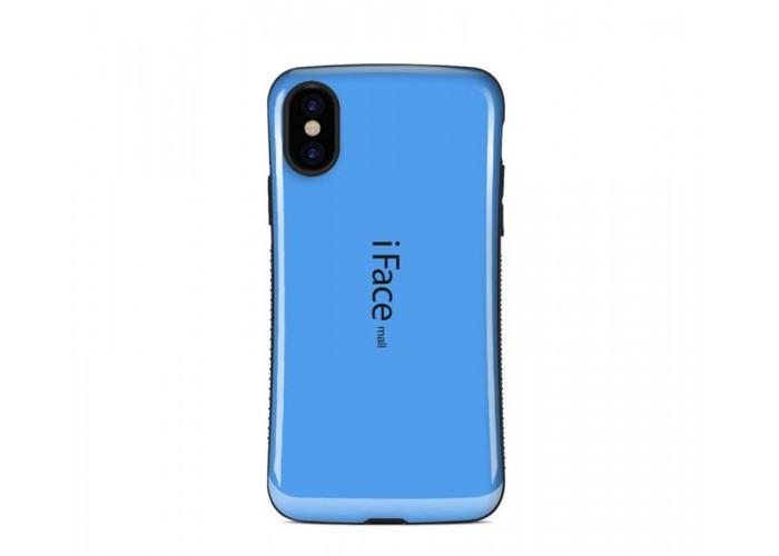 Чехол для iPhone X iFace синий