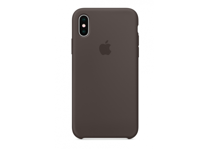 Силиконовый чехол Apple Silicone Case Cacao для iPhone X /10 Xs/10s (копия)