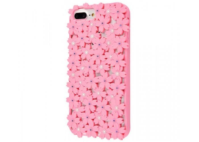 Чехол для iPhone 6s Plus/7 Plus/8 Plus цветы розовый