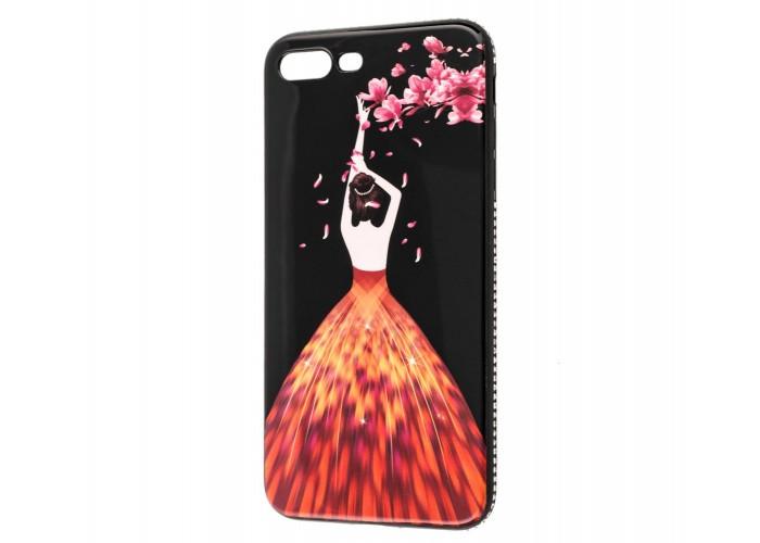 "Чехол для iPhone 7 Plus/8 Plus Magic Girl розовый ""лепестки"""