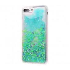 Чехол для iPhone 7 Plus/8 Plus блестки вода чайные листья
