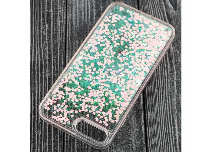 Чехол для iPhone 7 Plus/8 Plus блестки вода светло-розовый