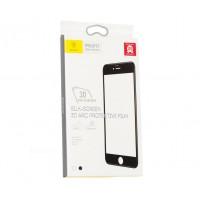 Защитное стекло Baseus 3D Arc Protective Film для iPhone 6/6s белое