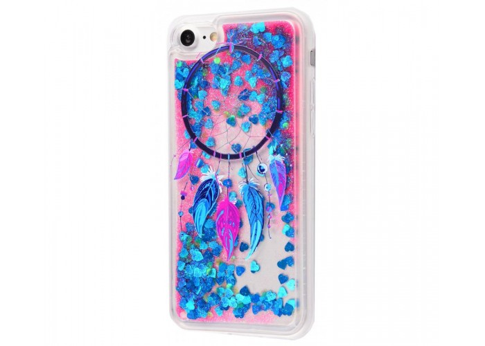 Чехол для iPhone 7/8 блестки вода New амулет