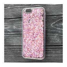 Чехол для iPhone 6/6s блестки вода сиреневый