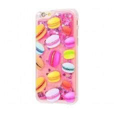 Чехол для iPhone 6/6s блестки вода New розовый макарон