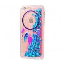 Чехол для iPhone 6/6s блестки вода New амулет