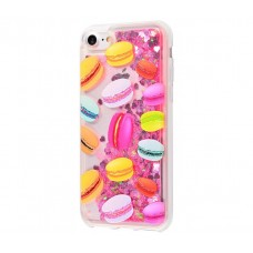 Чехол для iPhone 7/8 блестки вода New розовый макарон
