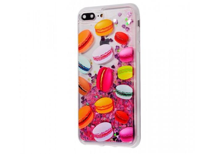 Чехол для iPhone 7 Plus/8 Plus блестки вода New розовый макарон