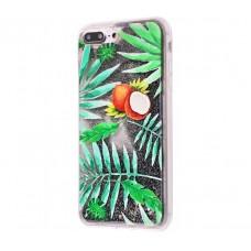 Чехол для iPhone 7 Plus/8 Plus блестки вода New зеленый кокос