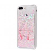 Чехол для iPhone 7 Plus/8 Plus блестки вода New Love