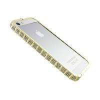 Бампер для iPhone 5/5s/SE Bvlgari змея золото
